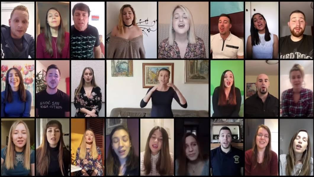 Riječki zbor mladih zapjevao putem Skypea i sve oduševio