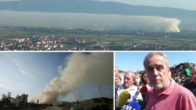 Ovako se dim, koji za Bandića nije opasan, širio nad gradom