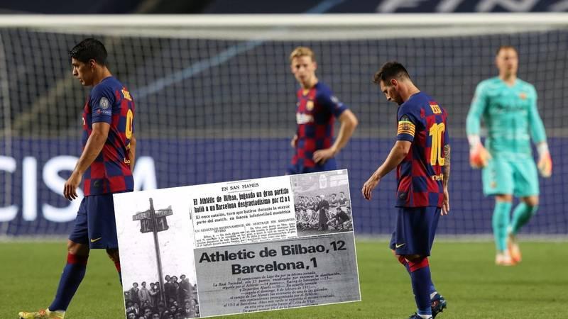 Ovo su najteži porazi Barcelone: Zadnji put osam golova primila je 1946., a gubila je čak i 12-1...