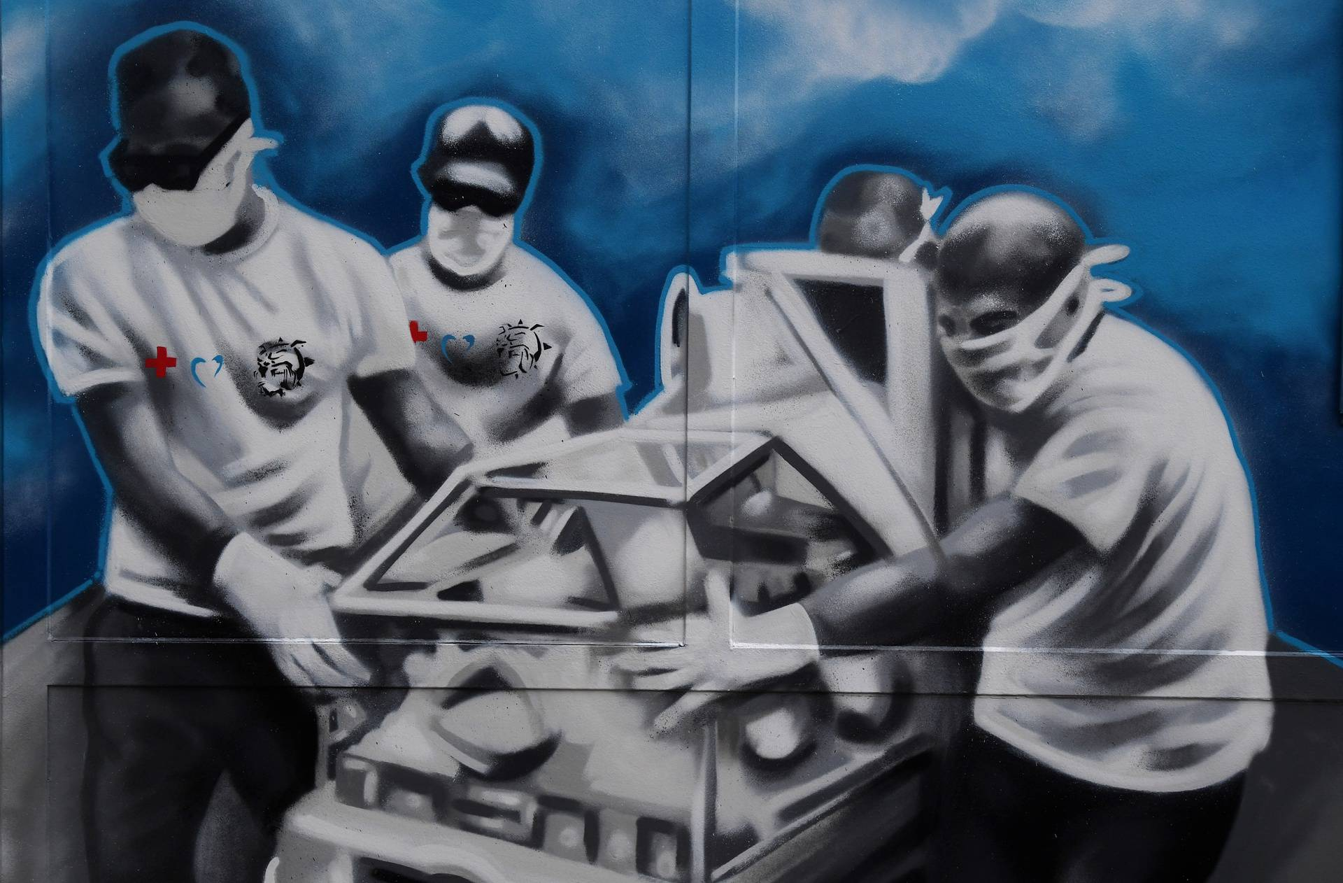 Mural posvećen gradu Zagrebu i potresu koji se dogodio 22.03.2020