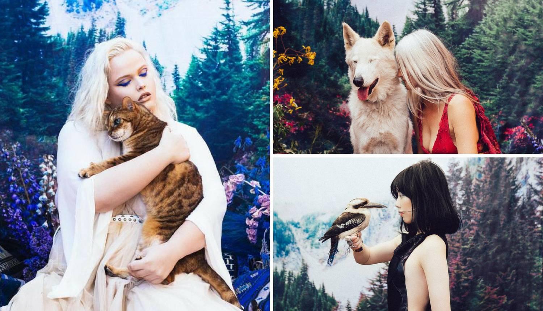 Fotografirala životinje spašene s crnog tržišta - kao modele