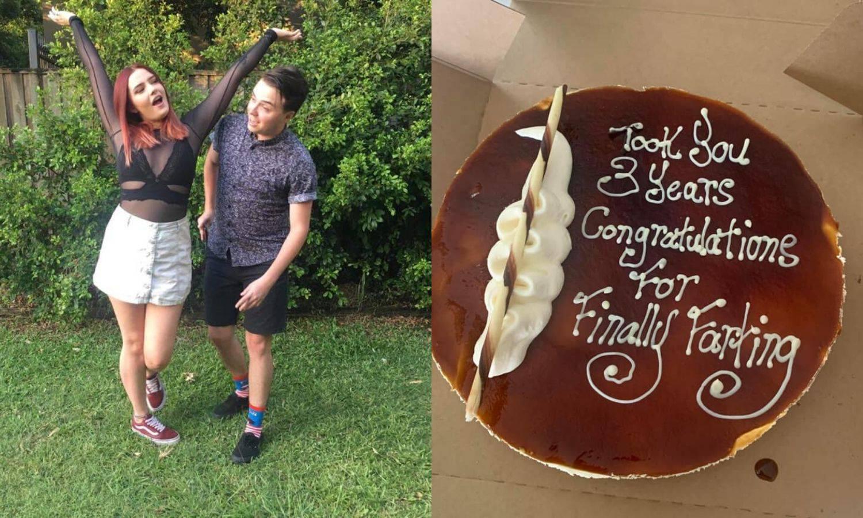 Kupio curi tortu da joj čestita što je konačno 'pustila goluba'