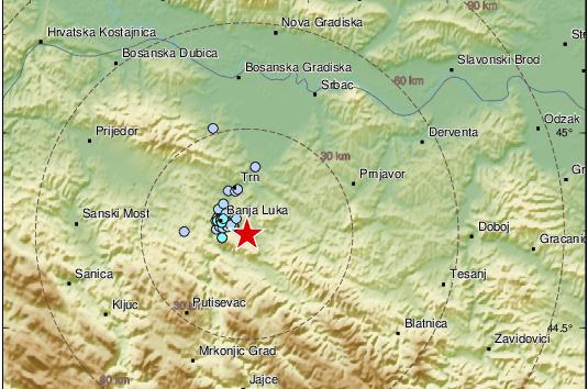 'Baš lijepo zadrma': Potres od 2,3 Richtera u Banjoj Luci...