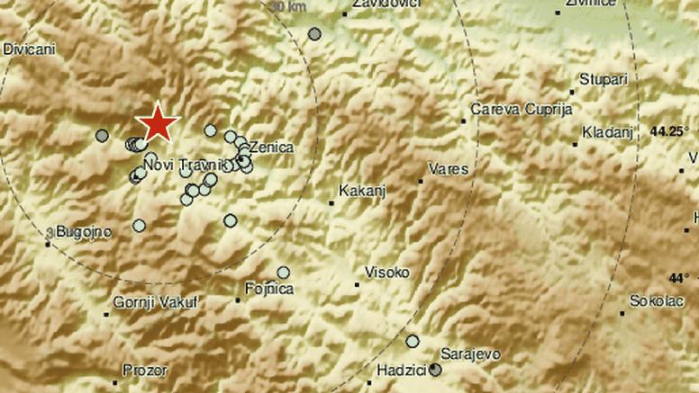 Novi potres zatresao je BiH