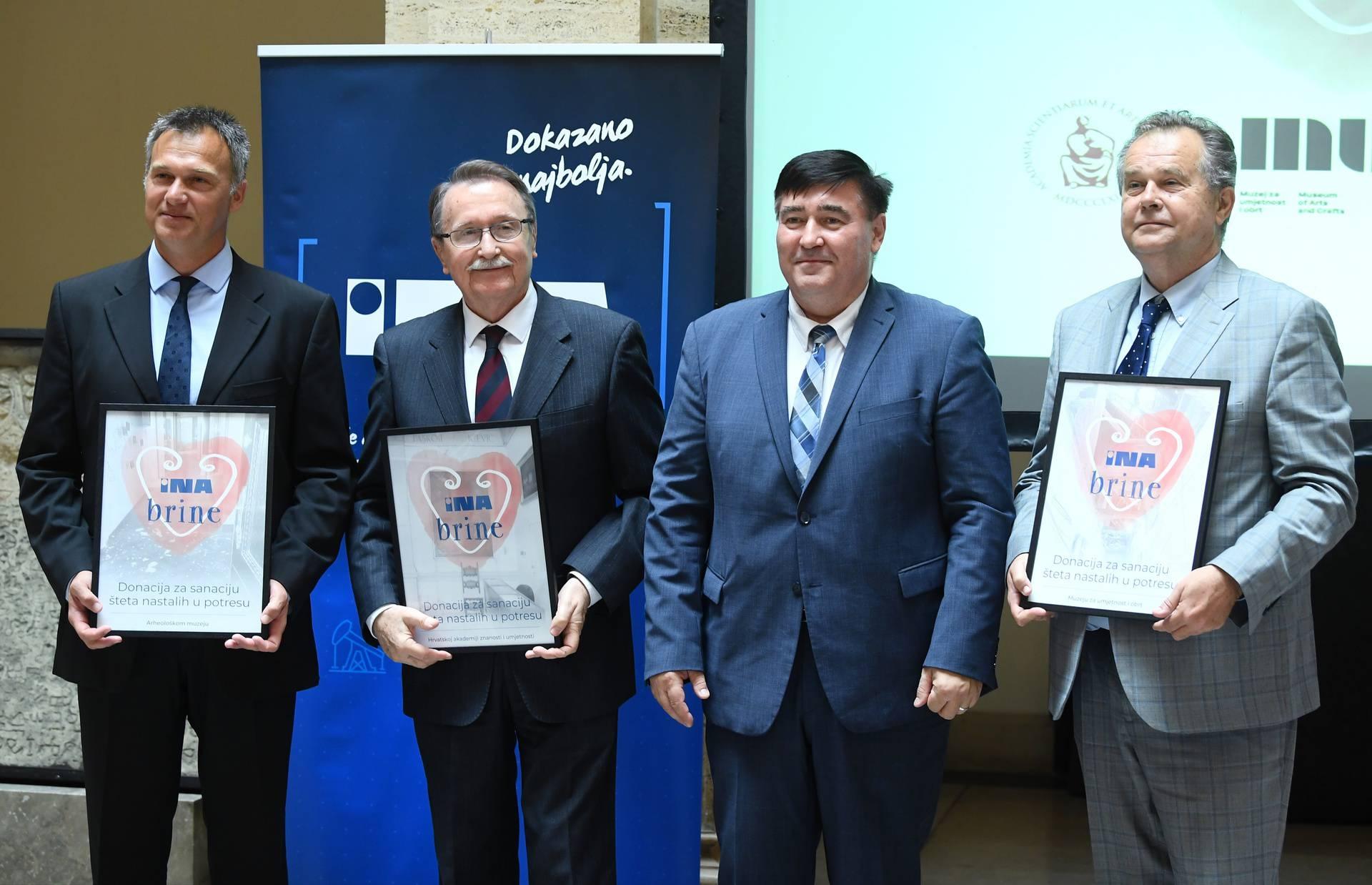 Zagreb: Svečano uručenje donacija INA d.d. HAZU i Arheološkom muzeju
