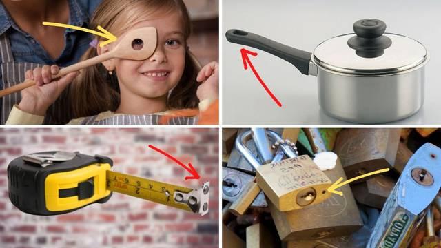 Možda niste znali: Čemu služi rupica na lokotu, otvor na vrhu ručke od tave, rupa u kuhači...