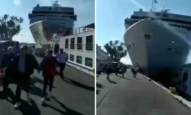 Sudar brodova u Veneciji: Ljudi u panici bježali pred kruzerom!