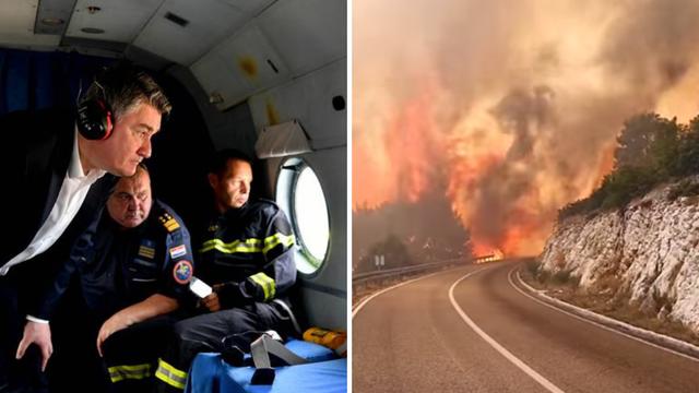 Tko je kriv za požar kod Trogira: Bagerom zahvatili dalekovodne žice, iskra zapalila suhu travu