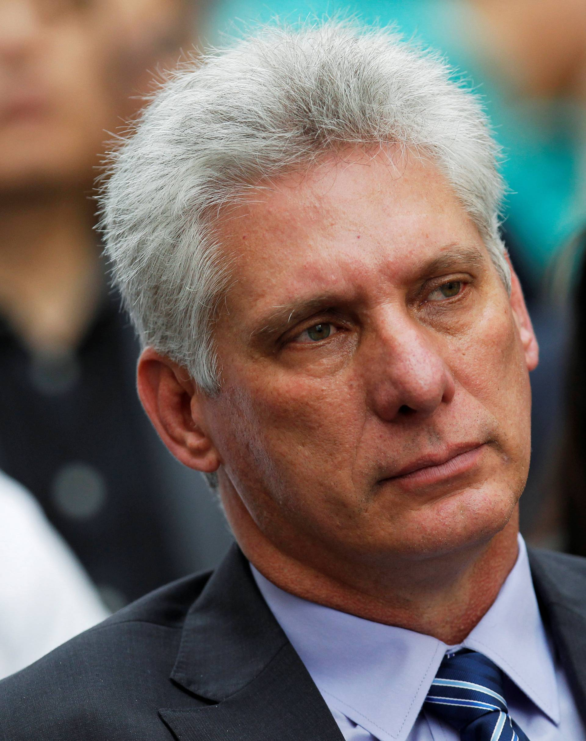 Cuba's First Vice-President Diaz-Canel attends the opening of the Havana International Book Fair, in Havana