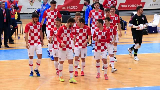 Osijek: Hrvatska futsal reprezentacija protiv Ukrajine za odlazak na EP