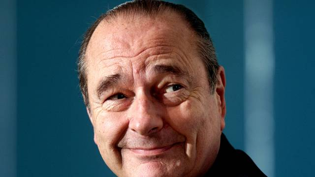 FILE PHOTO: French President Jacques Chirac is seen during his news conference at the end of the stockholm European Summit