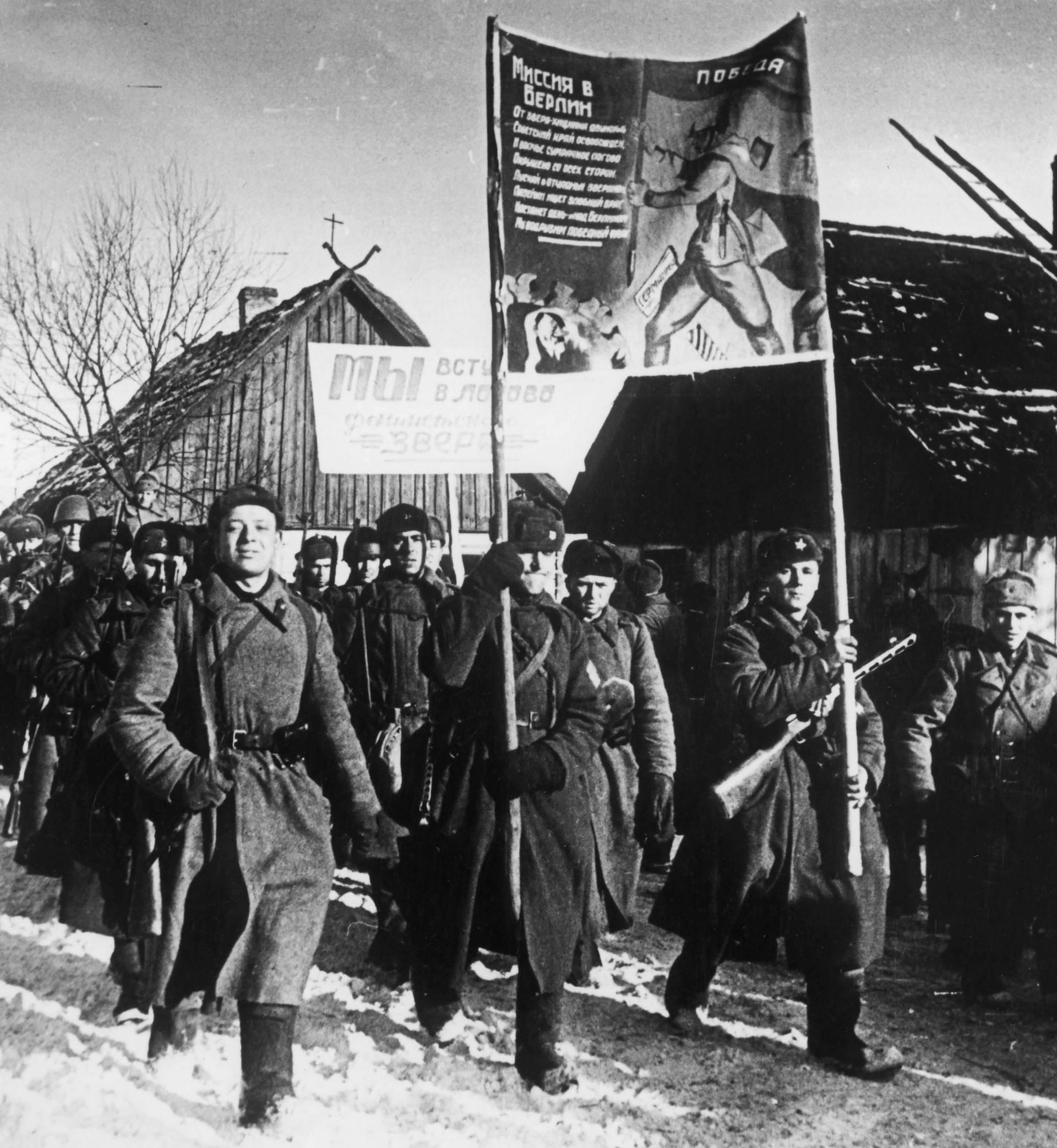 Ostpreußen / sowj. Truppen auf Vormarsch