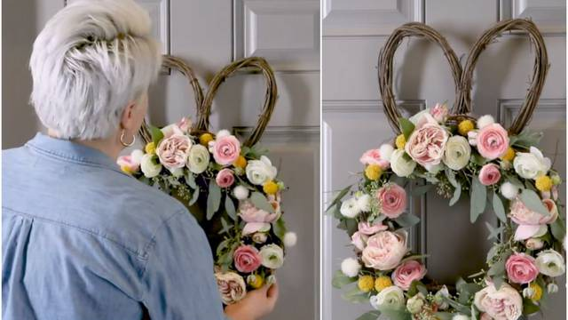 Ukrasite svoja ulazna vrata ili stol uskrsnim vijencem od vinove loze i proljetnog cvijeća