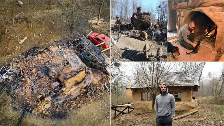 Izgorjela mu brvnara u kojoj je živio: 'Priroda ju je opet uzela'