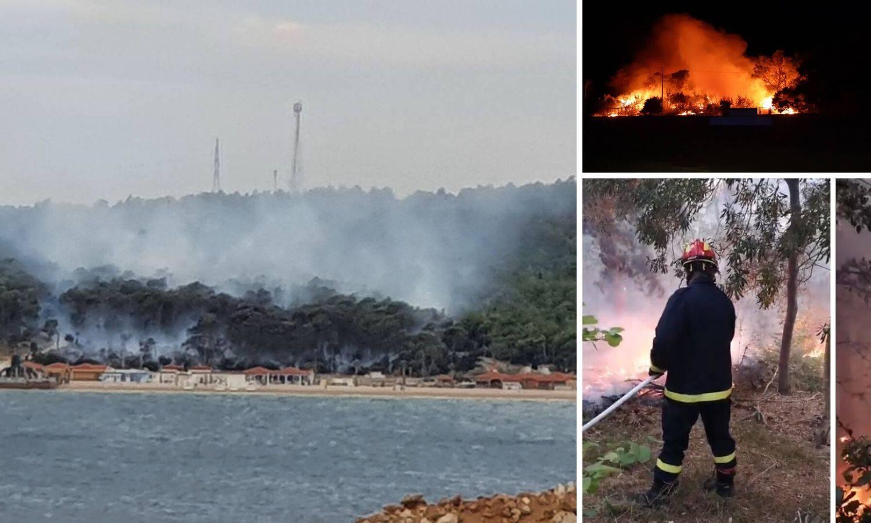 'Požar na Zrću smo zaustavili, ali ljudi će na terenu ostati cijeli dan  i noć da ga potpuno ugase'