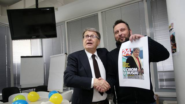 Ćiro Blažević 81. rođendan proslavio u redakciji 24sata