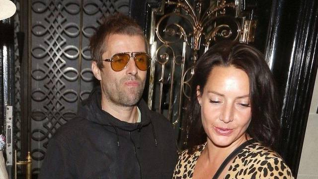 Liam Gallagher and girlfriend Debbie Gwyther dine at Scott's restaurant in Mayfair, London