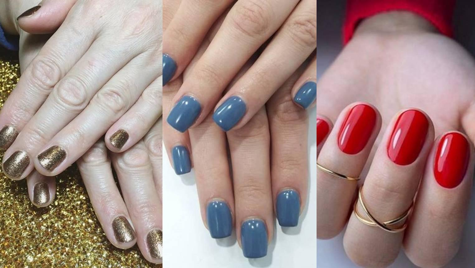 Hit boje lakova za nokte u zimi: Sivo-plava, zlatne šljokice, metalik, crvena i boja kamena