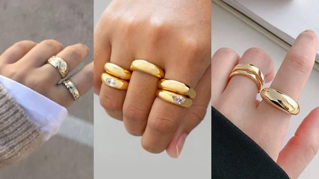 Ljepota i jednostavnost prstenja pod utjecajem blagih oblih linija