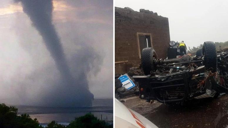 Tornado pogodio otočić Pantelleria: Automobili letjeli zrakom, poginulo dvoje ljudi