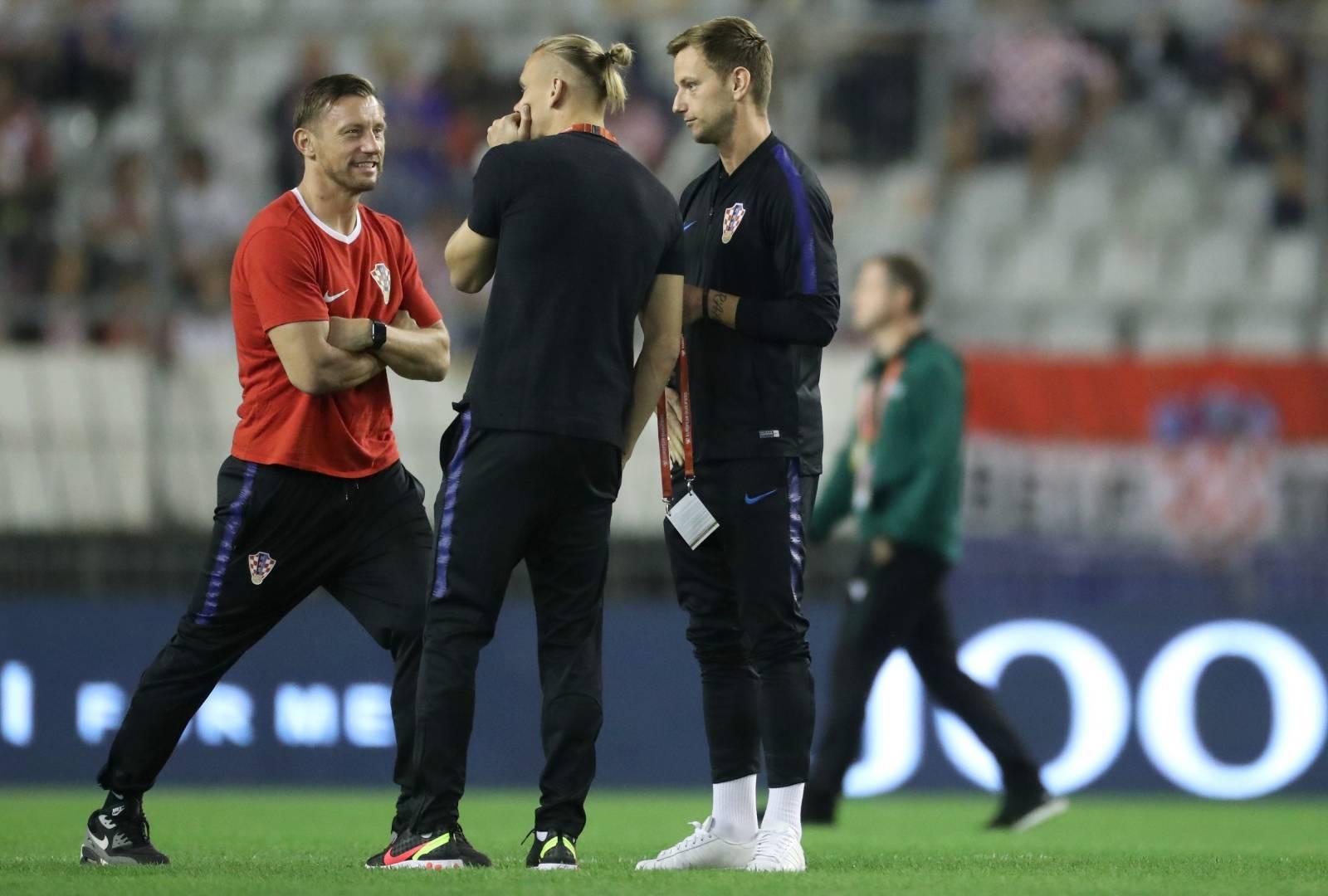 Igrači se pripremaju za susret Hrvatske i Madjarske u kvalifikacijama za EP