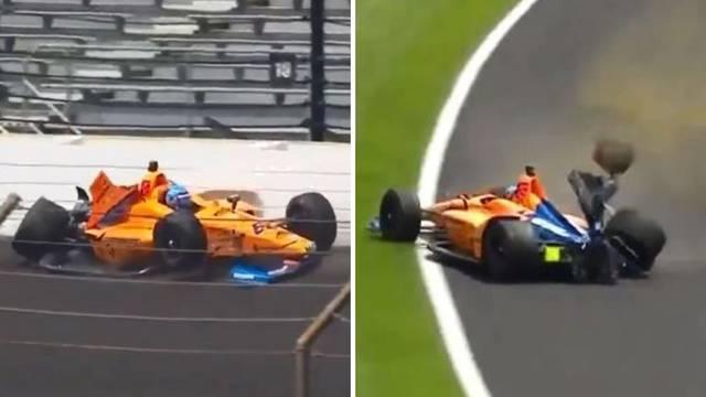 Stravično! Alonso se zabio u zid, a onda se svima ispričavao