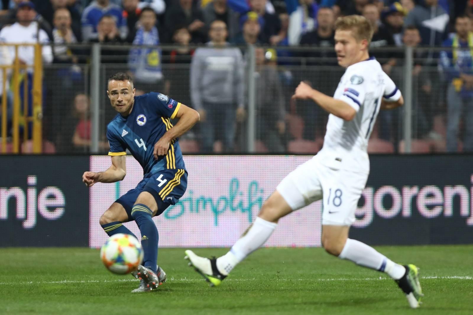 Zenica: BiH protiv Finske u kvalifikacijskoj utakmici za Europsko nogometno prvenstvo