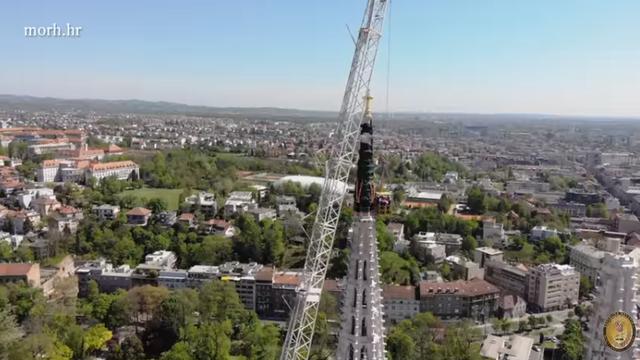 MORH objavio video uklanjanja tornja katedrale iz svih kutova