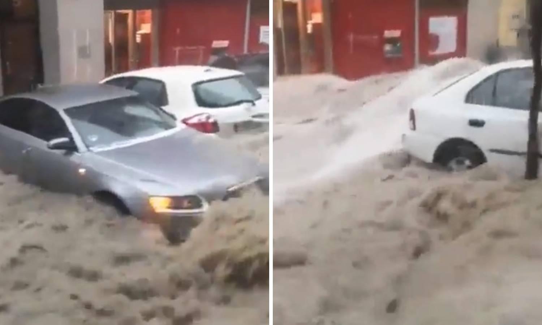 Superoluja pogodila predgrađe Madrida: Bujica je nosila aute!