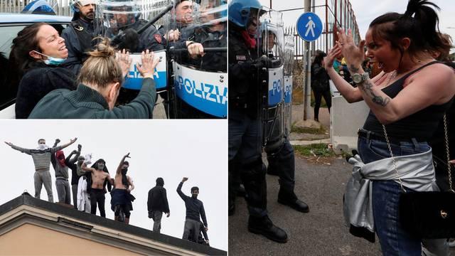 Totalni kaos u Italiji: Ispred zatvora mlate se s policijom