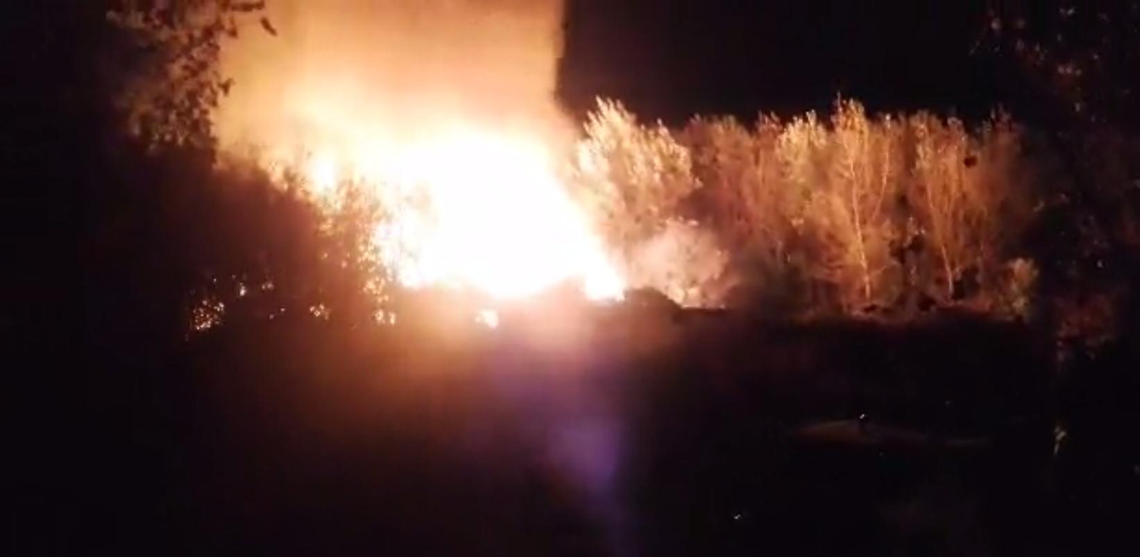 Požar na zagrebačkom Jarunu: Vatra progutala drvenu baraku
