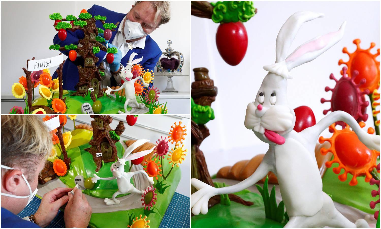 Čokoladna bajka o kornjači i zecu poručuje: Ostanite doma!