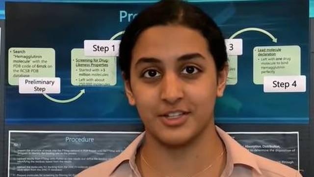 Djevojčica (14) iz Teksasa dobila nagradu za otkriće koje može dovesti do lijeka protiv korone