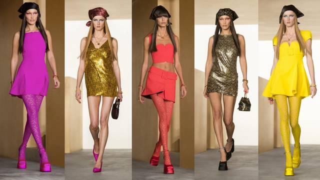 Donatella Versace vjeruje u moć mini haljine i super uske suknje
