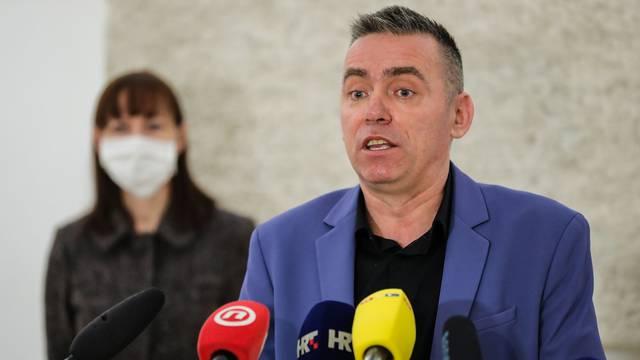 Zagreb: Klub zastupnika Domovinskog mosta održao je konferenciju za medije