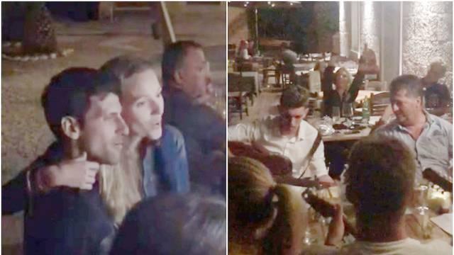 Đoković sa suprugom i klapom zapjevao Olivera na Korčuli