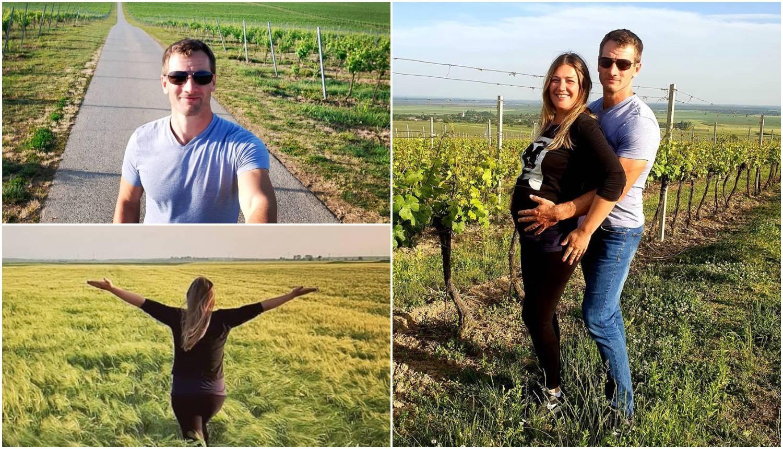 Šeta baranjskim vinogradima: Goga pokazala trudnički trbuh