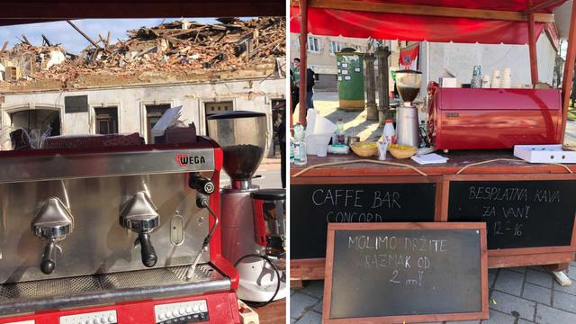 Kafić mu je potpuno srušen u potresu, a on dijeli kavu za van: 'Ima je za sve, kakvu god želite'