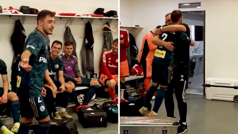 VIDEO Trener zagrlio Juranovića i dignuo ga u zrak na oproštaju