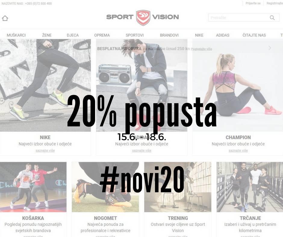 Novi i još bolji Sport Vision web s 20% popusta za vikend