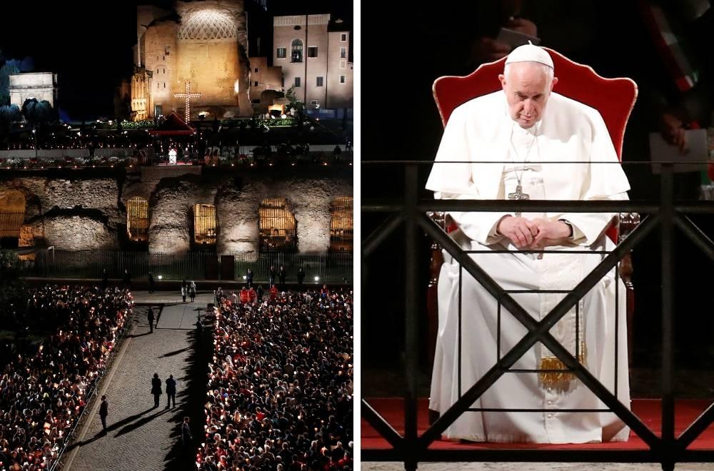 Papa Franjo predvodio je Križni put pred tisućama ljudi u Rimu