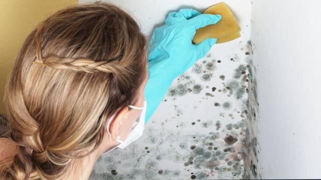Budite oprezni tijekom čišćenja plijesni i svakako nosite masku