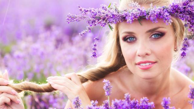 Girl on the lavender field