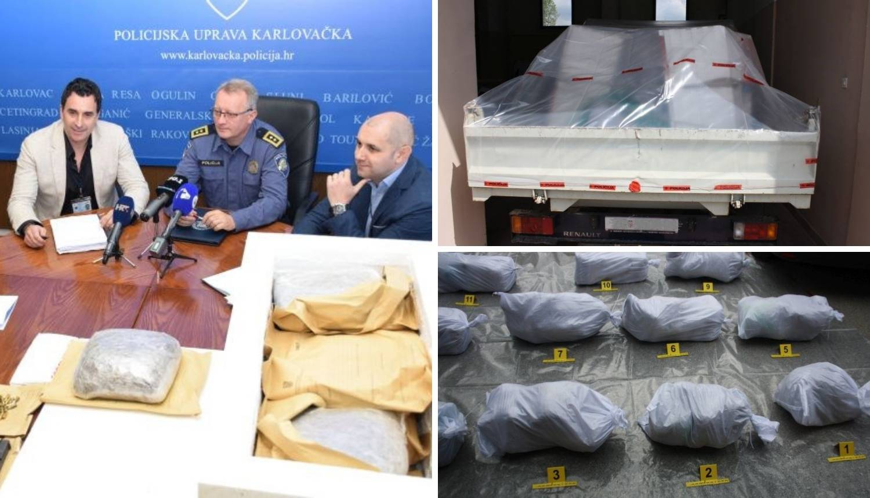 Hrvat i Srbin u kamionu na A1 prevozili čak 170 kg marihuane