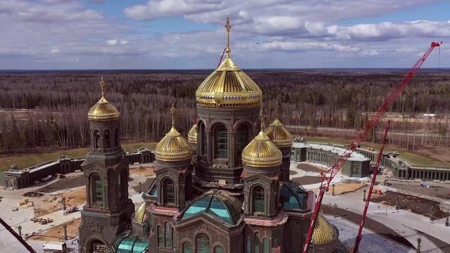 Construction site of main cathedral of Russian Armed Forces