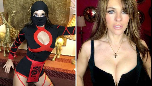 Seksi nindža: Hurley se uvukla u usko odijelo, ispale joj grudi