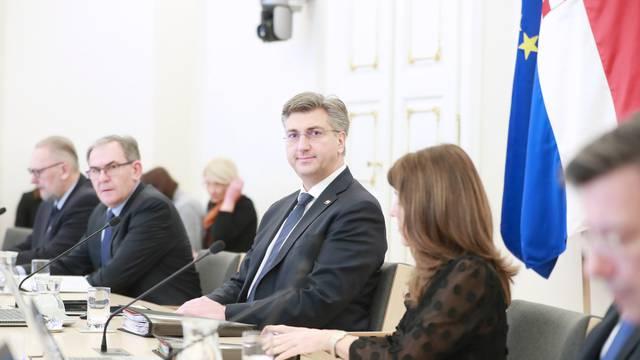 Zagreb: Održana sjednica Vlade Republike Hrvatske