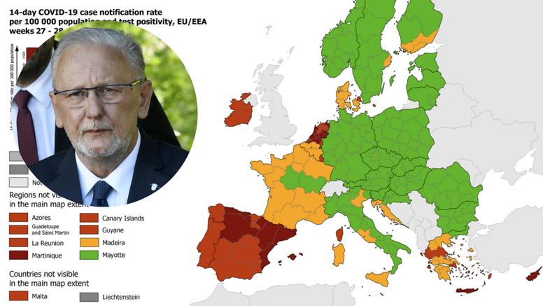 Božinović: Osim ljetnih radosti, Jadran pleše između narančaste i crvene na karti ECDC-a