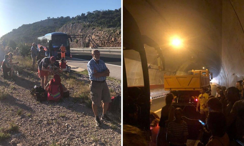 Kvar u tunelu: 'Čekali smo bez klime 45 minuta da izvuku bus'