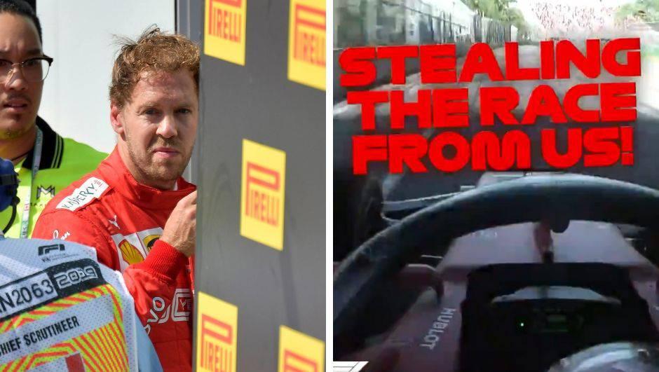 Vettel preko timskog radija: Pa čovječe, kradu nam pobjedu...